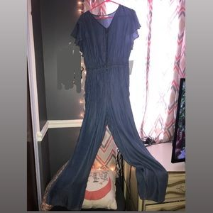 Denim-looking jumpsuit